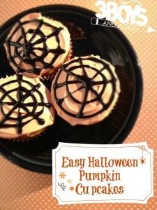Easy Halloween Pumpkin Cupcakes