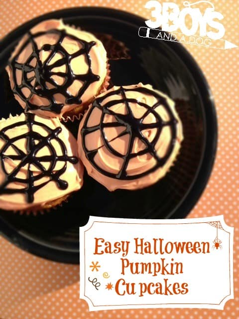 Easy Halloween Pumpkin Cupcakes Easy Halloween Pumpkin Cupcakes