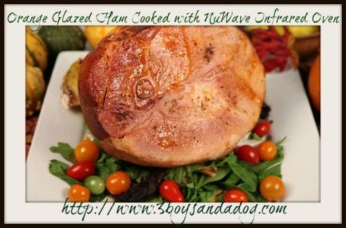 Orange-Glazed-Ham (NuWave Infrared Oven)