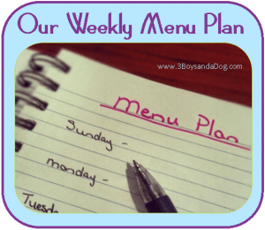 Menu Plan Monday:  Welcome to the New Site!