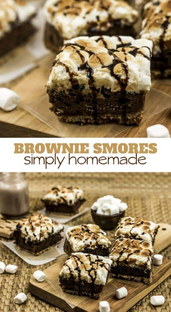 smores brownies four ingredient recipe