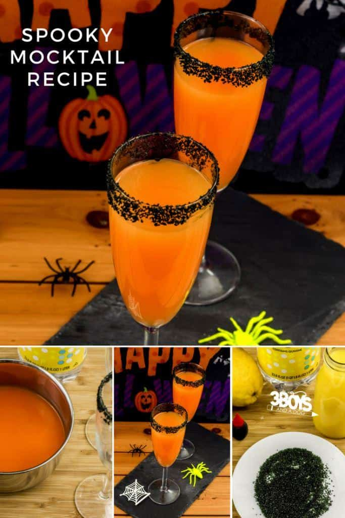 Since this Spooky Halloween Mocktail Recipes uses an orange juice base, it's perfect for Halloween morning, and the tonic water gives it a festive sparkle.