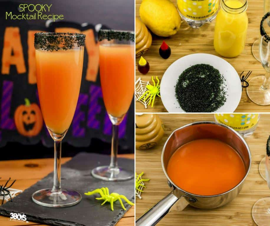 Delicious Halloween Mocktail Recipe with Orange Juice