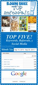Weekend Top Five of Five (Week Six)