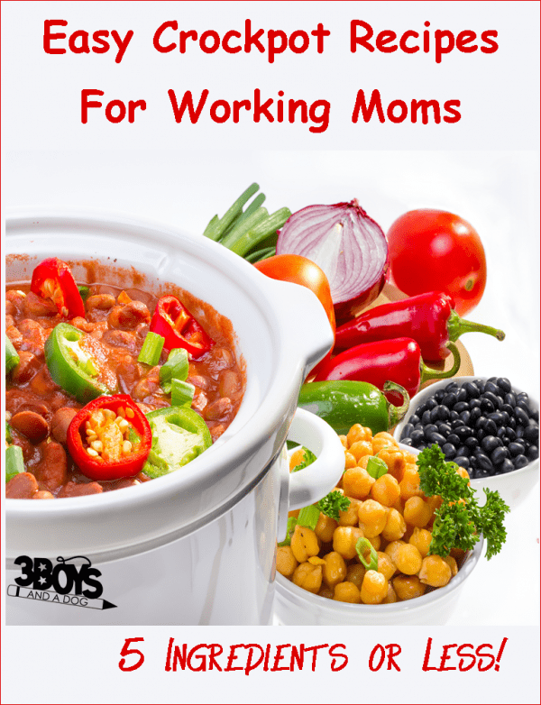 easy crockpot recipes for working moms - 5 ingredients or less