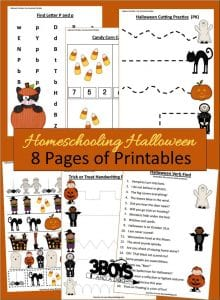 8 Educational Halloween Printables for Kids!