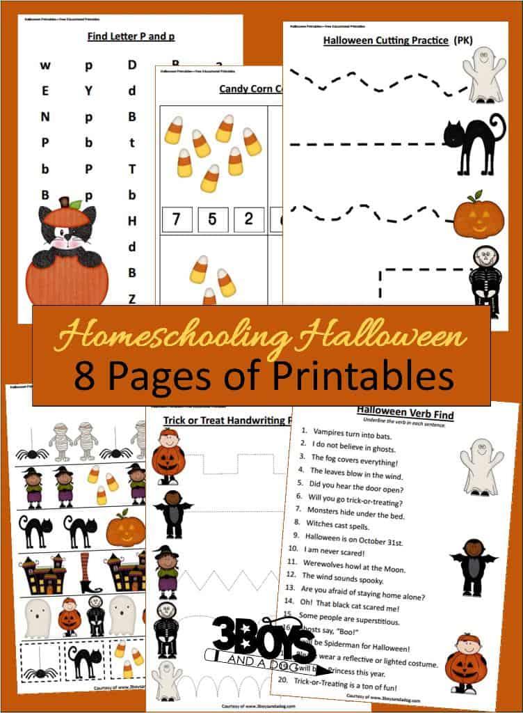 8 Educational Halloween Printables for Kids