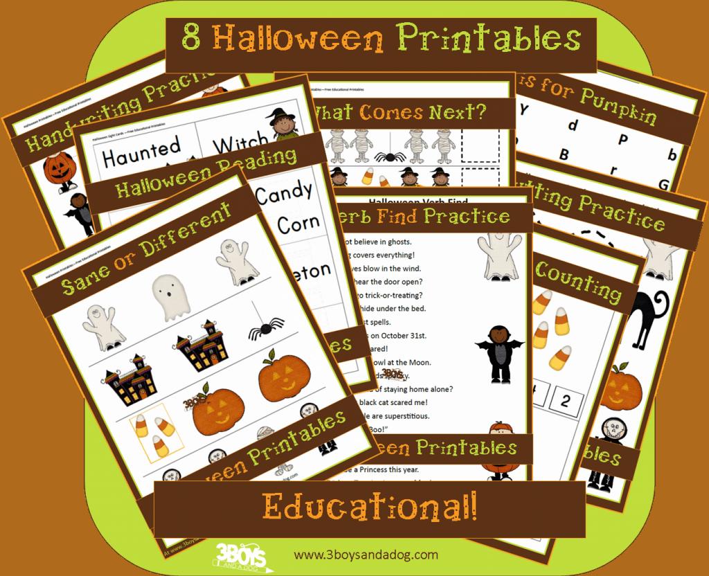 8 Halloween Printables