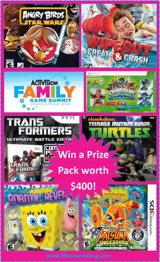 Win $400 in kids games from Activision!