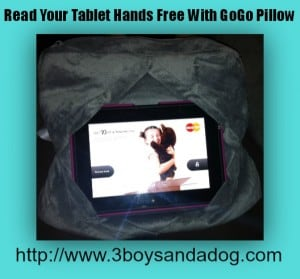Hands Free Reading With the GoGo Pillow