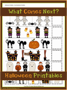 Halloween Printables: Patterns and Sequencing