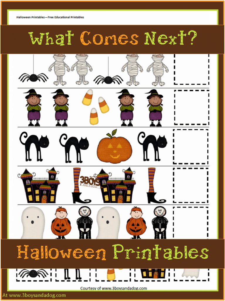Halloween Patterns and Sequencing