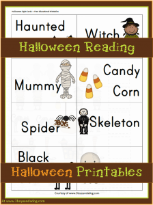 Halloween Printables: Halloween Reading Fun