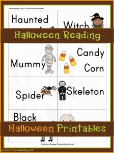 Halloween Printables: Halloween Reading Fun