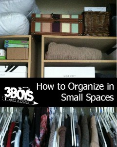 How to Organize Small Spaces