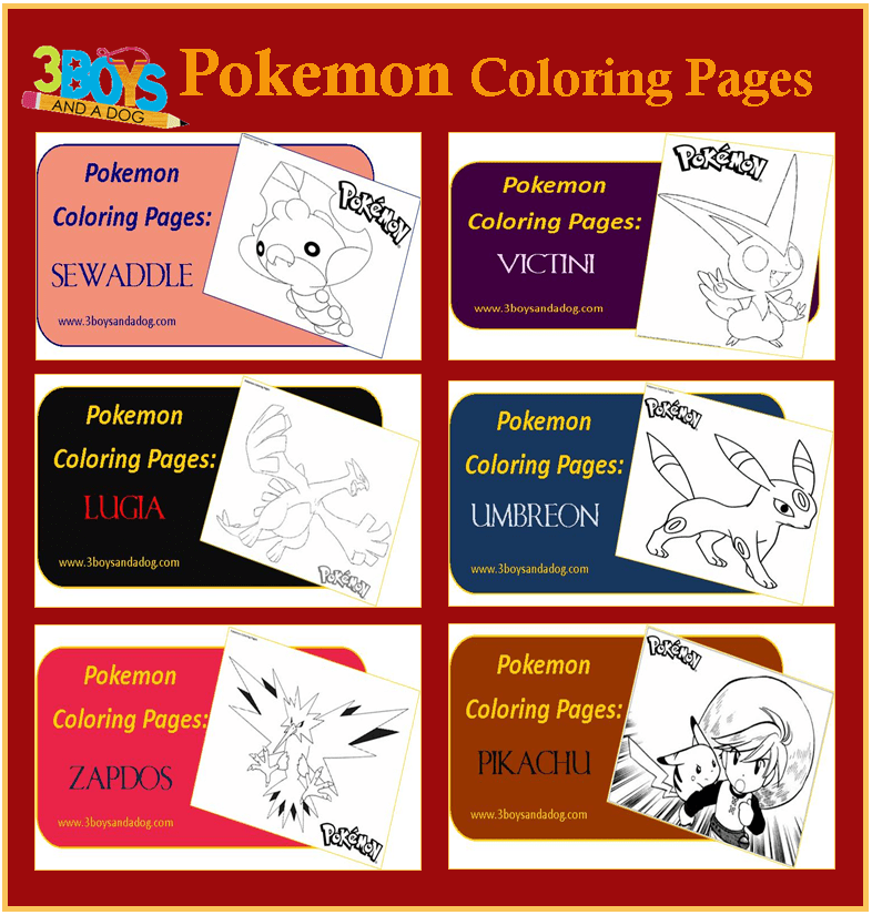 pokemon coloring pages for boys