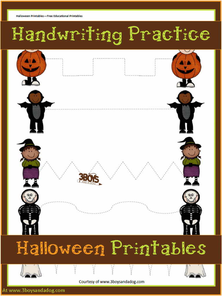 Preschool Halloween Handwriting Practice