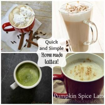 Quick and Simple Homemade Lattes