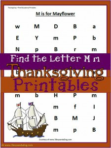 Find the letter worksheets: M is for the Mayflower