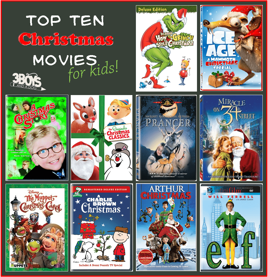 Top Ten Family Friendly Christmas Movies