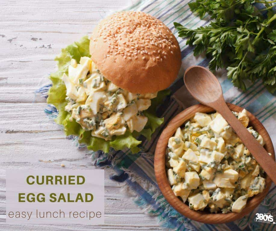 Easy and delicious curried egg salad recipe