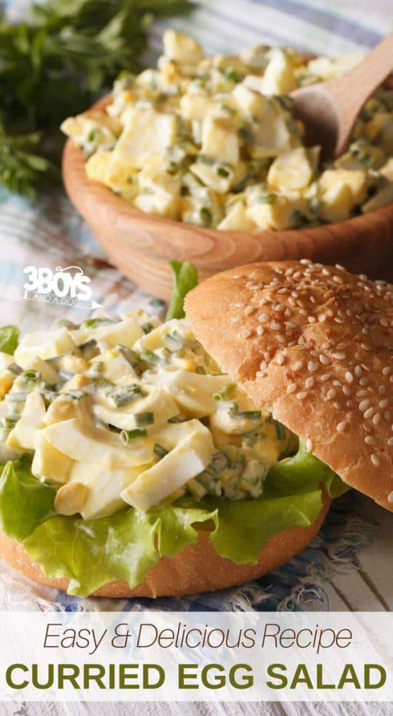 Curried Egg Salad easy lunch recipe