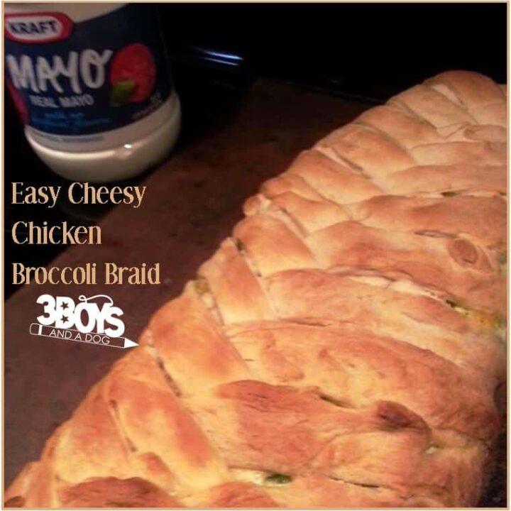 Easy Cheesy Chicken Broccoli Braid Recipe