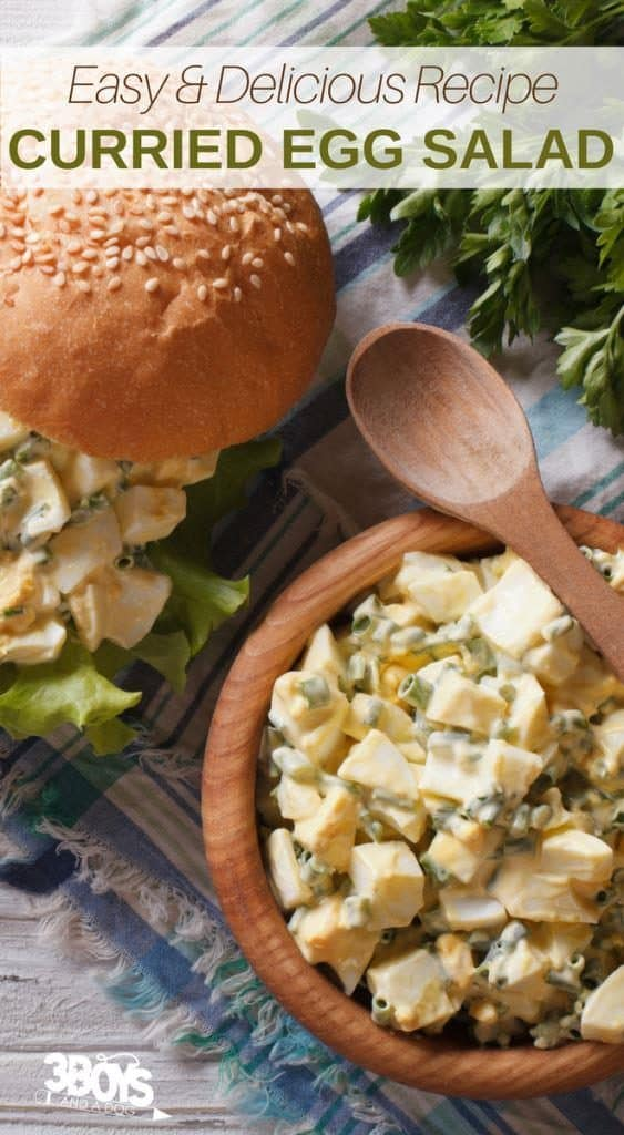 Curried Egg Salad for a sandwich or dip