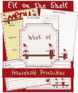 Menu Plan Monday:  Free Elf on the Shelf Household Printables