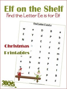 Find the Letter E is for Elf on the Shelf