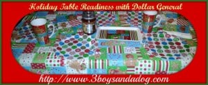 Holiday Table Readiness with Dollar General