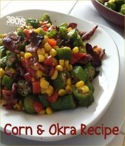 Okra and Corn (kinara) for Kwanzaa