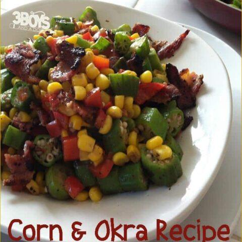 Okra and Corn (kinara) for Kwanzaa