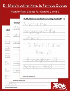 MLK Famous Quotes Handwriting Practice grade 1_2