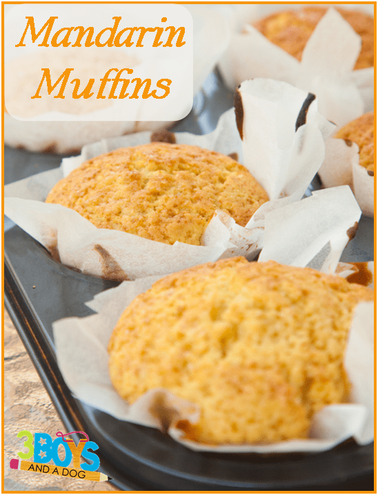 Mandarin Muffins in tin