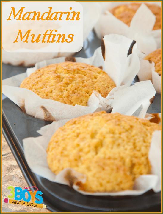 Mandarin Muffins in tin