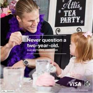 Does Your Little Girl Have a #MyFootballFantasy @VISA