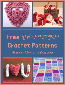 7 Free Valentine Crochet Patterns