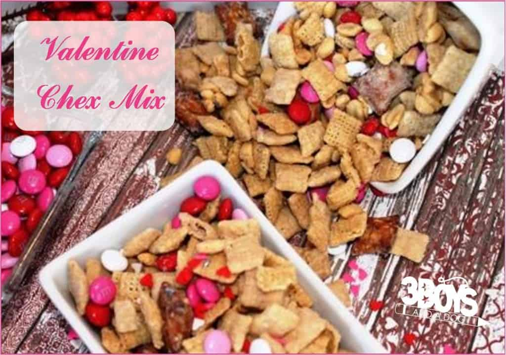 Pink and Red Chex Mix recipe