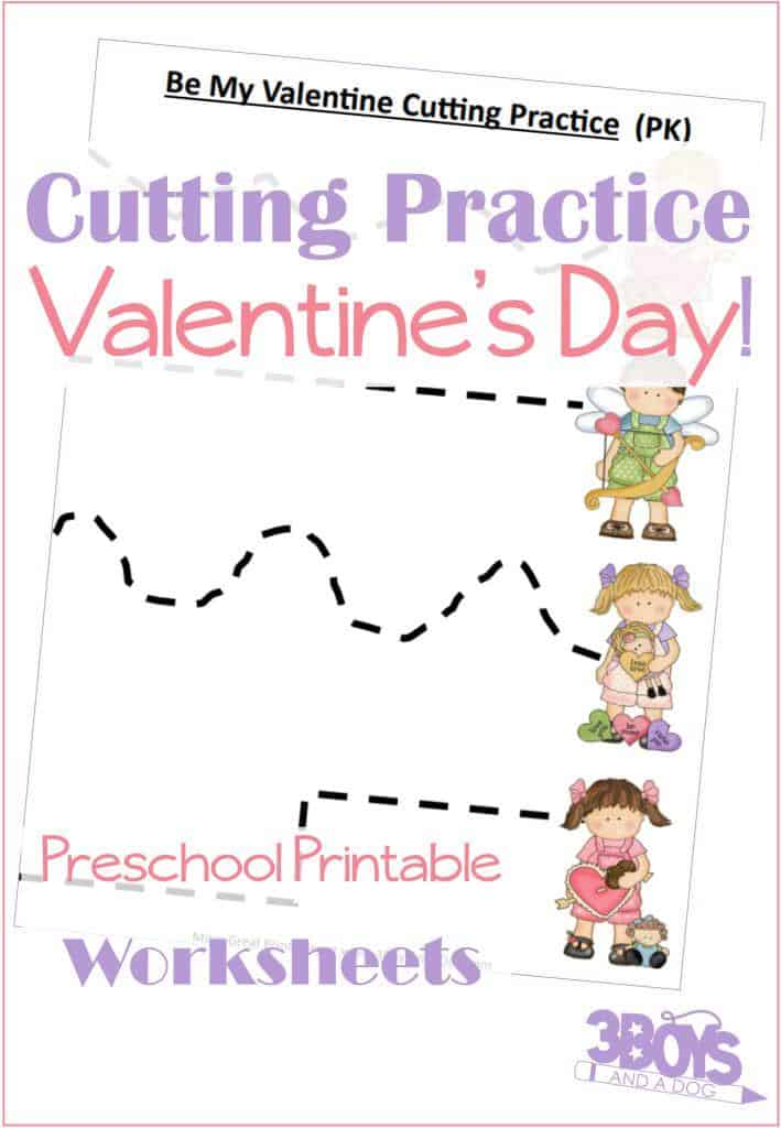 These Valentine Preschool Cutting Practice Printable Worksheets will help your preschool children work on dexterity, scissor skills, and fine motor skills. If you are looking for valentine worksheets or cutting worksheets, these valentine worksheets for preschool are sure to fit the bill!