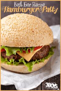 Best Ever Easy Hamburger Patty Recipe