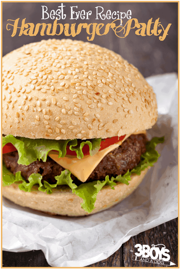 Best Ever Easy Hamburger Patty Recipe
