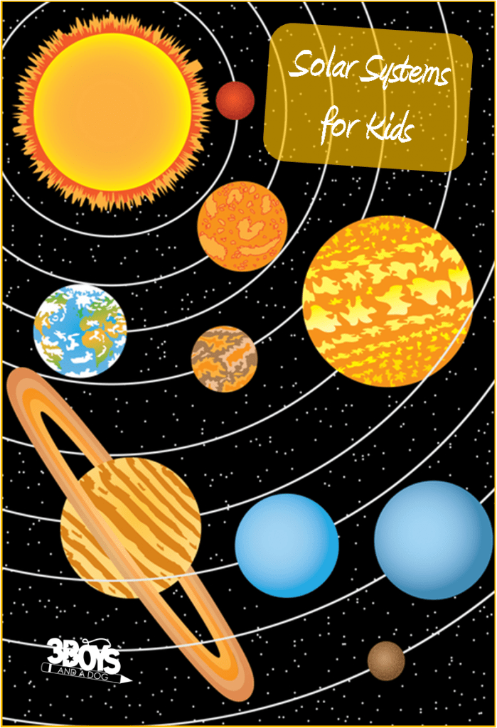 solar systems for kids 3 boys and a dog