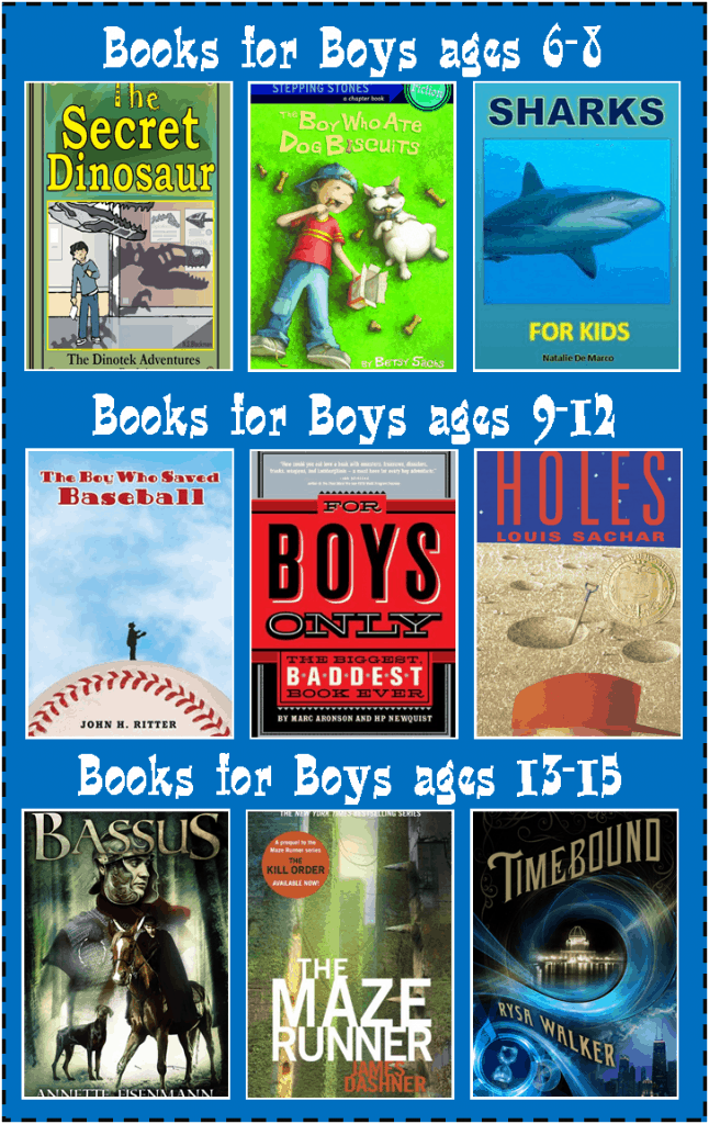20 different kinde books for boys