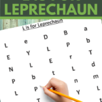 find the letter l is for leprechaun worksheet