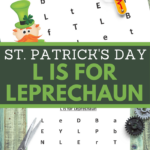 st paddy letter L recognition practice for preschoolers