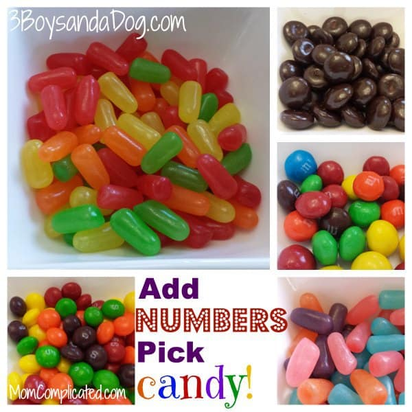 Add numbers pick candy