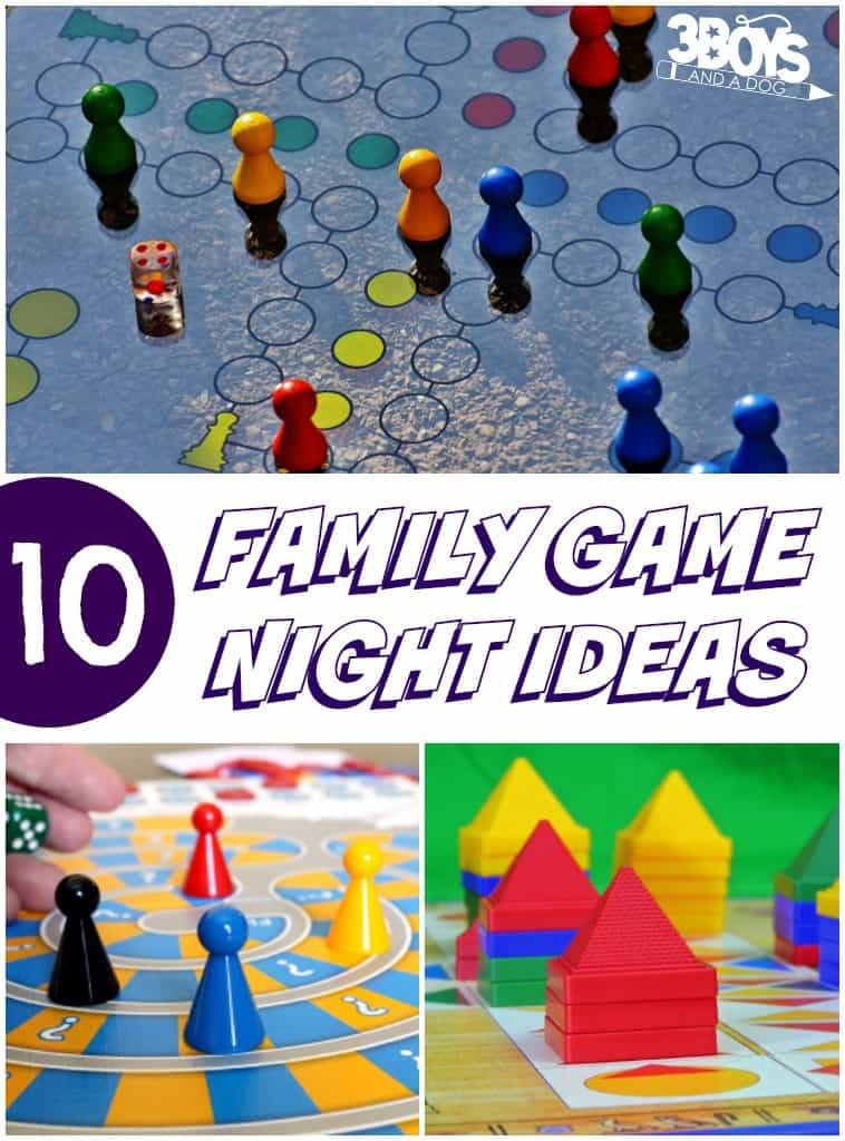 10 Family Game Night Ideas - 3 Boys and a Dog