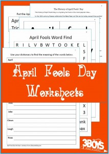 Free April Fools Day Worksheets
