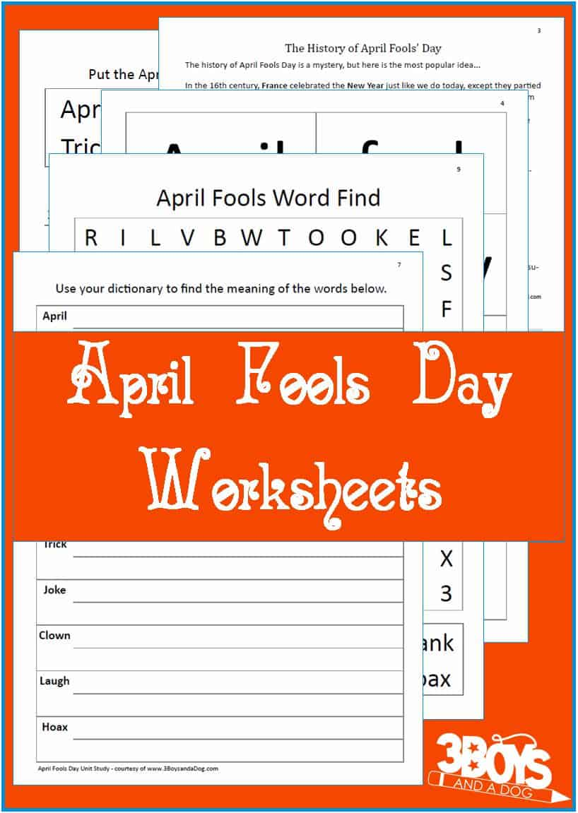 Great educational worksheets to celebrate April Fools Day